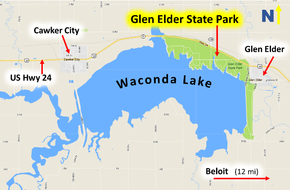 Glen elder state park camp swim and play discover for Plenty of fish kc